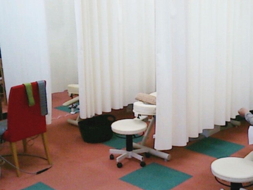 鍼灸整骨院ちりょうやの施術室