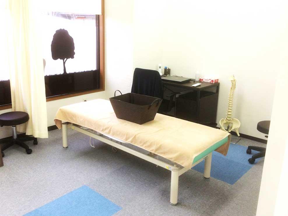 若林バランス整骨院の施術室